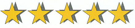 5-star customer ratings