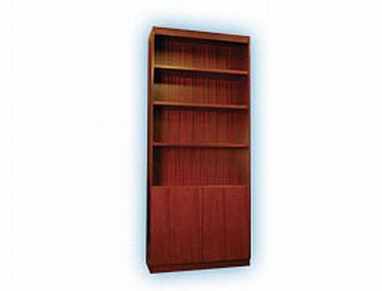 Solid Wood Bookcases With Doors Wayborn